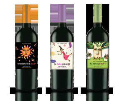 coffret de trois bouteilles de vin