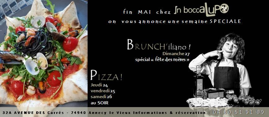 week-end spécial pizza & brunch